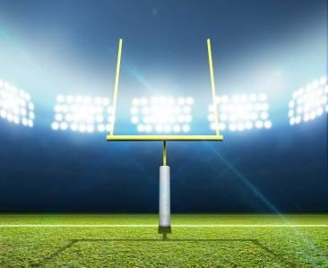Football field and goal post