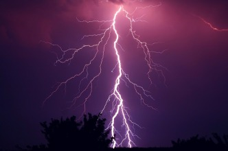 Purple Thunderstorm Weather Thunder Storm Violet