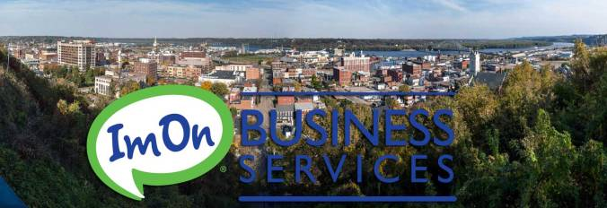 City of Dubuque picture with ImOn business services logo